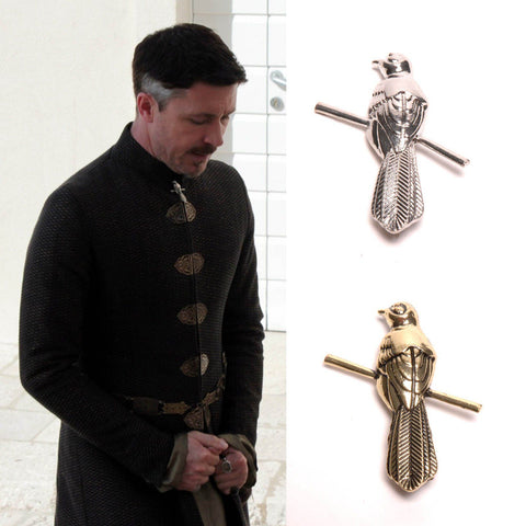 Game of Thrones Littlefinger Petyr Baelish Mockingbird Pin Brooch