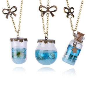 Mermaid Tears Bottle Necklace