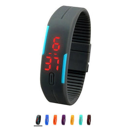 Silicone Digital LED Sports Wrist Watch