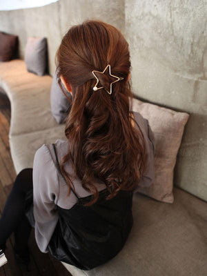 Star Hair Clip with Pearl Detail