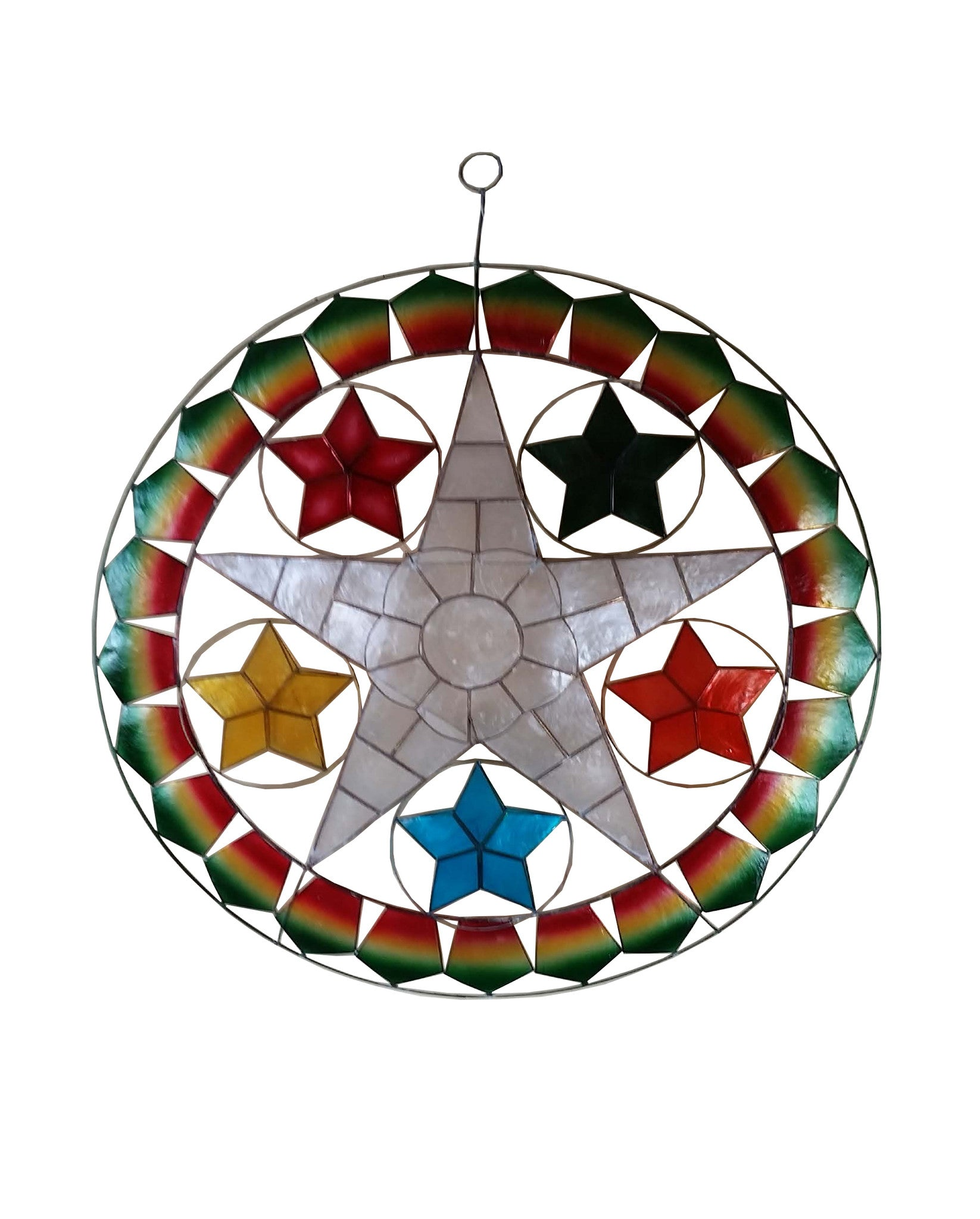 Filipino parol for sale in america - 24 White Star And Stars Parol Without Lights