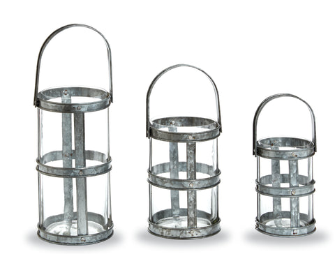 Tin Strapping Lanterns
