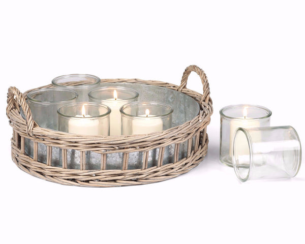 Round Willow Tealight Candle Holder