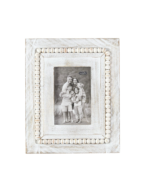White Washed Square Beaded Frames Bahay Home And Garden