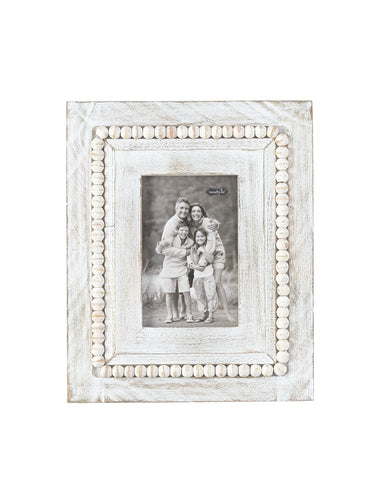 White-Washed Square Beaded Frames