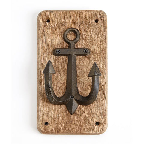 Nautical Wood Plaque Hooks