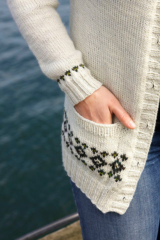pocket detail of Clayoquot sweater #yearofsweaters