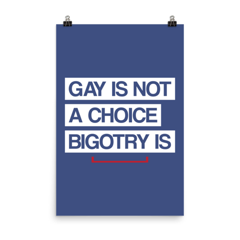 Gay is Not a Choice LGBT Matte Paper Poster