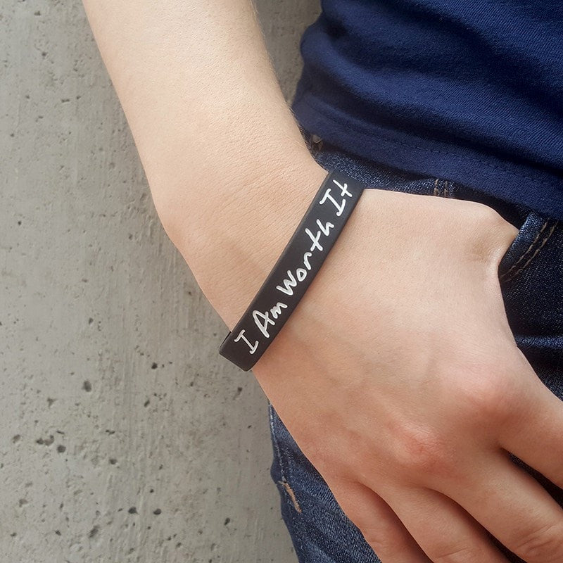 I Am Worth It Wristband