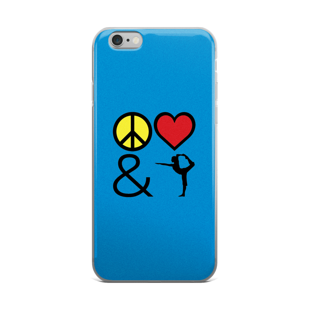 iPhone 5/5s/Se, 6/6s, 6/6s Plus Case: Peace Love & Yoga