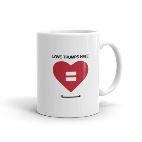 Love Trumps Hate LGBT Coffee Mug