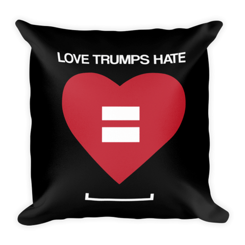 Love Trumps Hate LGBT Pillow