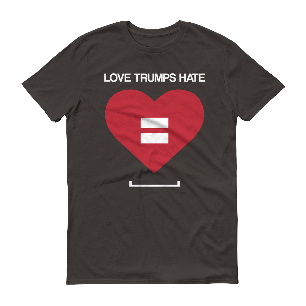 Men's Love Trumps Hate LGBT Tshirt