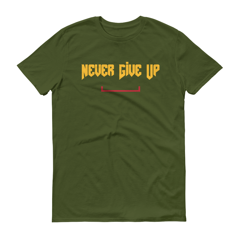 Men's Never Give Up Tshirt