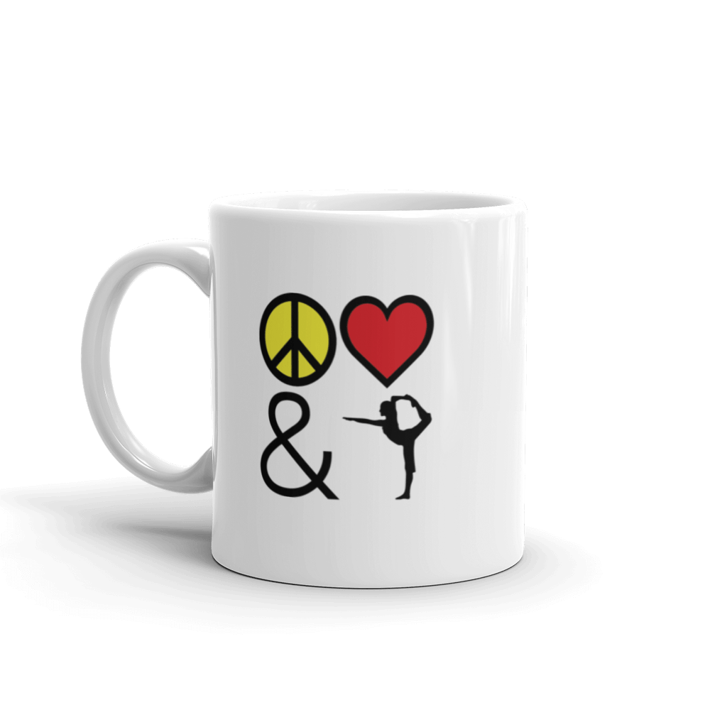 Mug: Peace Love & Yoga