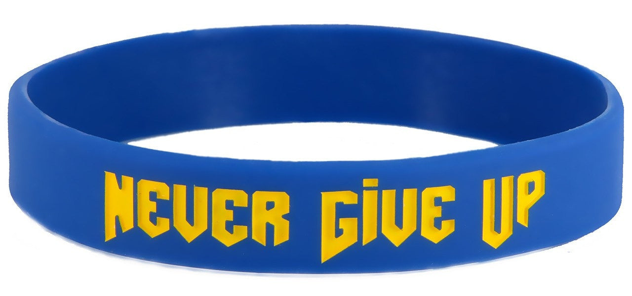 Never Give Up Wristband