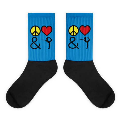 Socks: Peace Love & Yoga
