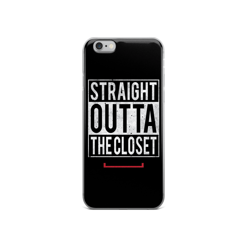 Straight Outta The Closet LGBT iPhone 5/5s/Se, 6/6s, 6/6s Plus Case