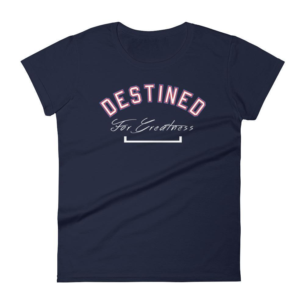 Women's Destined For Greatness Motivational Fitness Tshirt