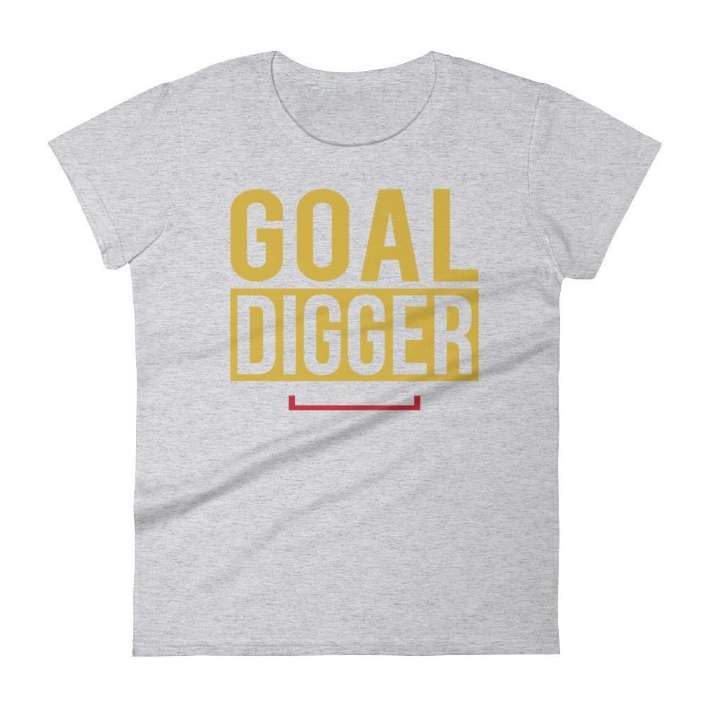 Women's Goal Digger Motivational Fitness Tshirt
