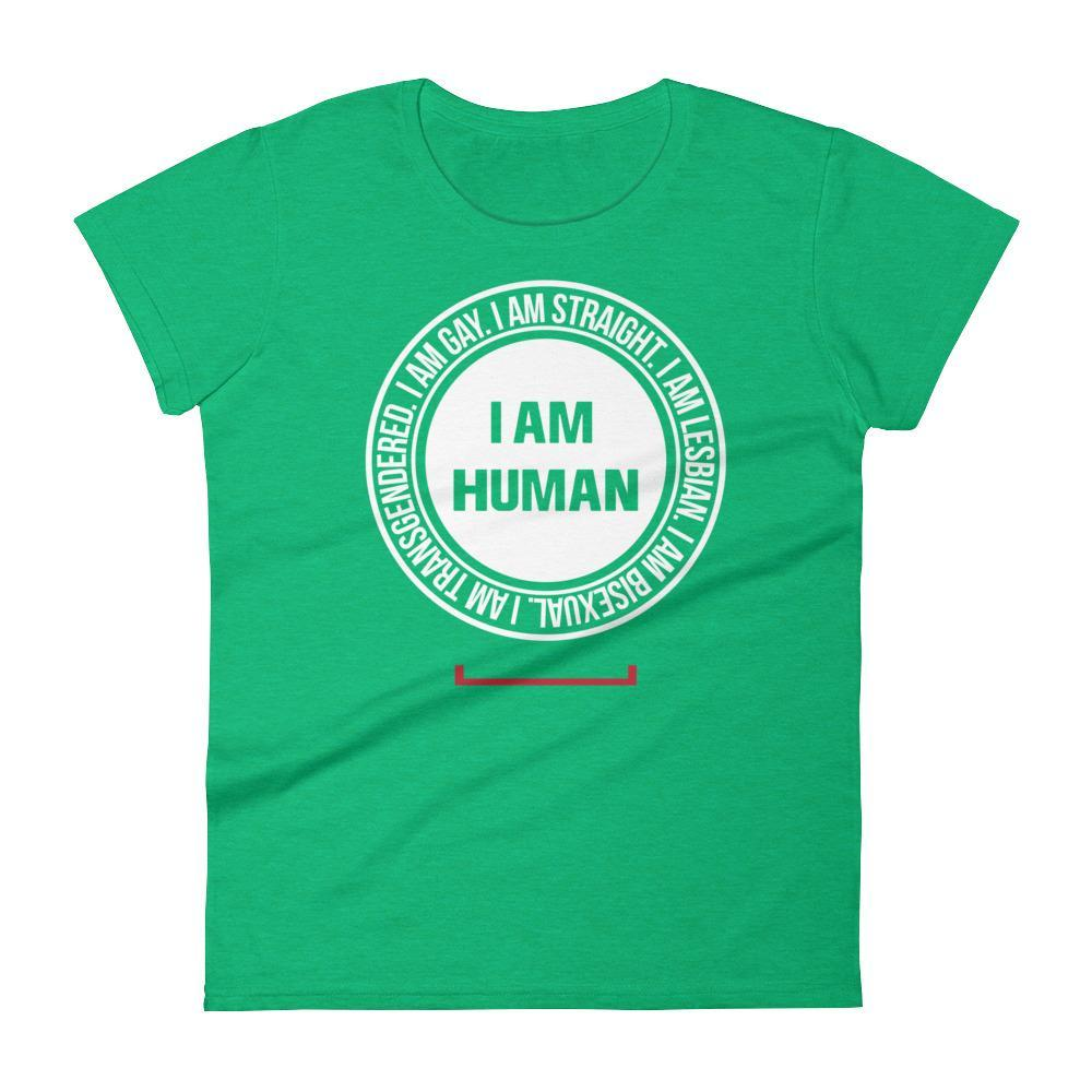 Women's I Am Human LGBT Gay Pride Tshirt