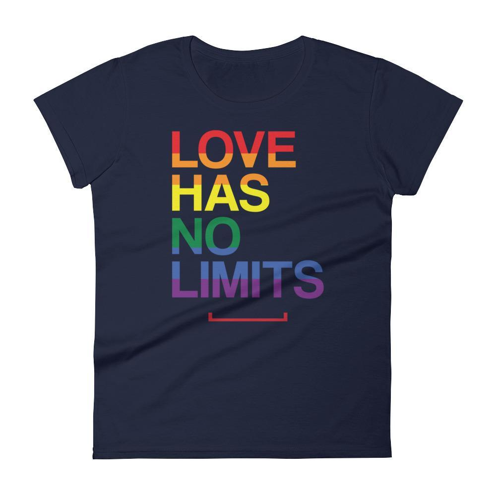 Women's Love Has No Limits LGBT Gay Pride Tshirt