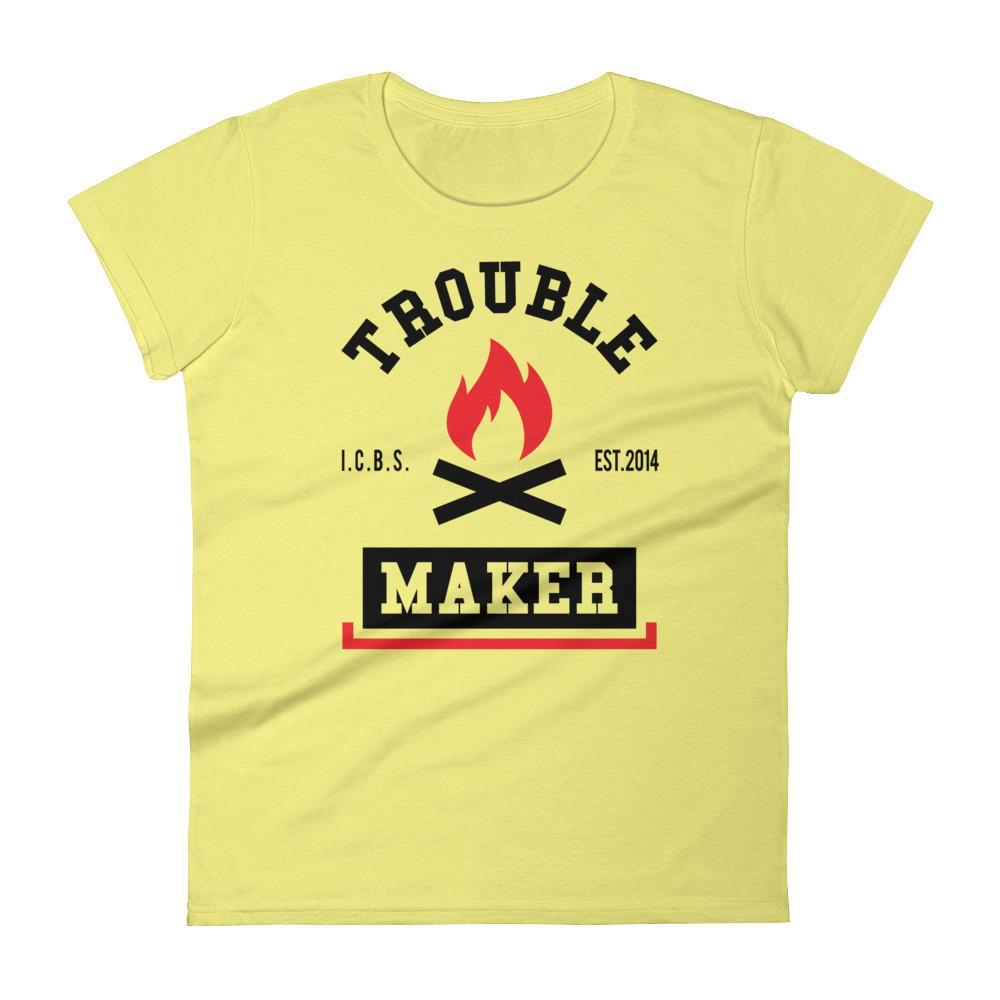 Women's Trouble Maker Tshirt - Black