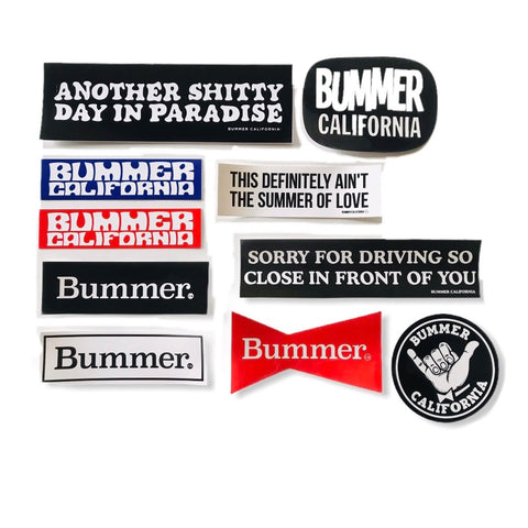 BUMMER CALIFORNIA STICKER PACK