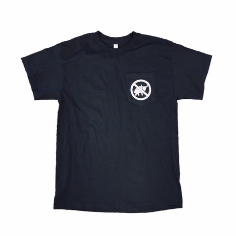 NO B.S.  BLACK POCKET T-SHIRT