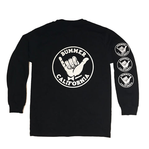 SHAKA BACK PRINT LONG SLEEVE T-SHIRT