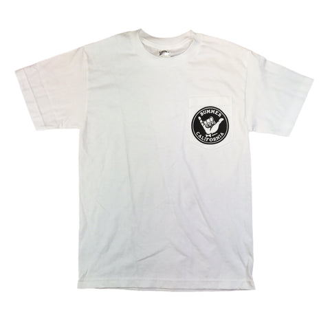 SHAKA WHITE POCKET T-SHIRT