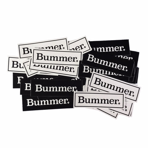 BUMMER CA. - BLACK & WHITE - STICKER PACK