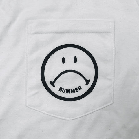 SAD FACE POCKET T-SHIRT
