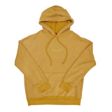 Simple Sueded Fleece Pullover Hoody - Mustard
