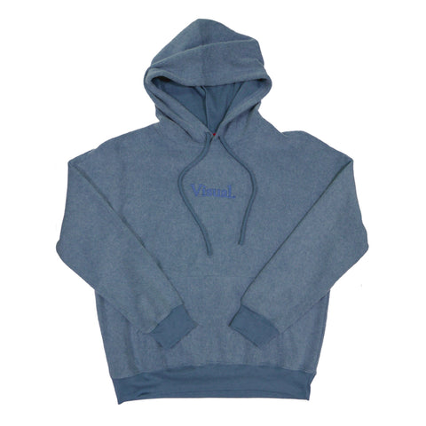 Simple Sueded Fleece Pullover Hoody - Heather Slate