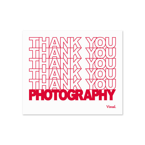 Thank You Photography Sticker