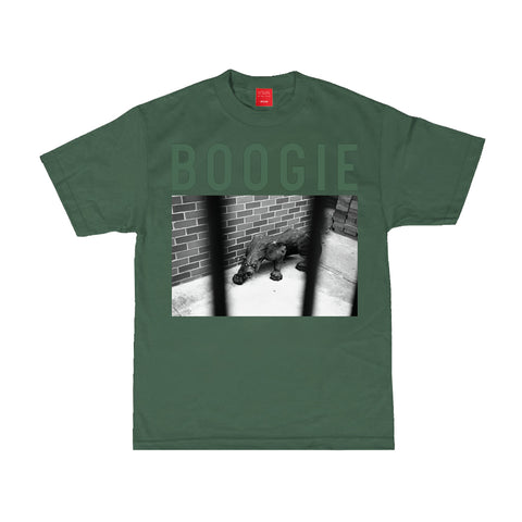 V/SUAL X BOOGIE Caged Tee - Forest Green