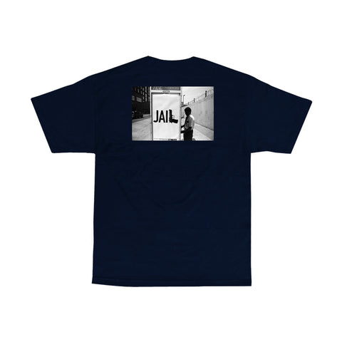V/SUAL X BOOGIE Jail Tee - Navy