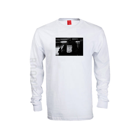 V/SUAL X BOOGIE Satan Long Sleeve - White