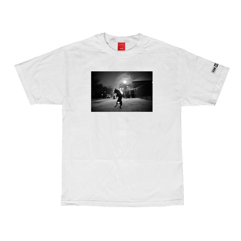 V/SUAL X BOOGIE Stray Tee - White