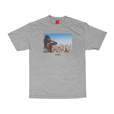 Composition Tee - Heather Grey