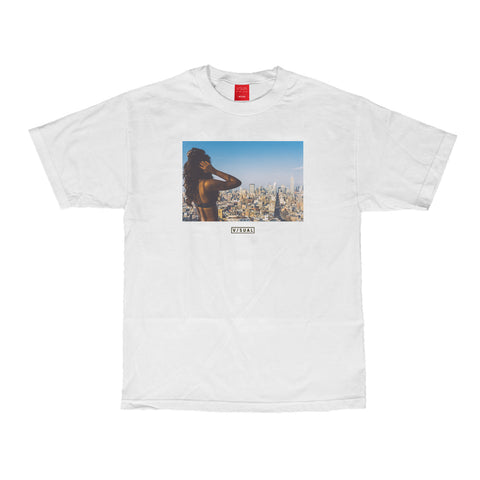 Composition Tee - White