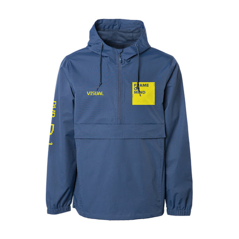 Frame of Mind Hooded Anorak Jacket - Navy