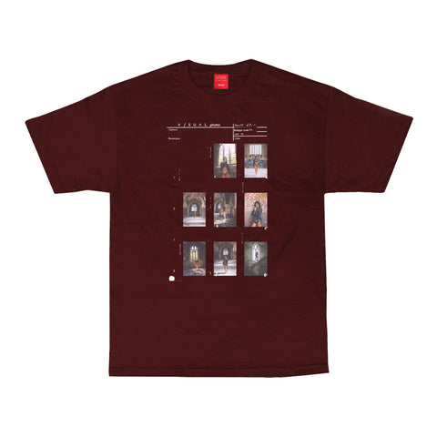 Contact Sheet 002 Tee - Maroon
