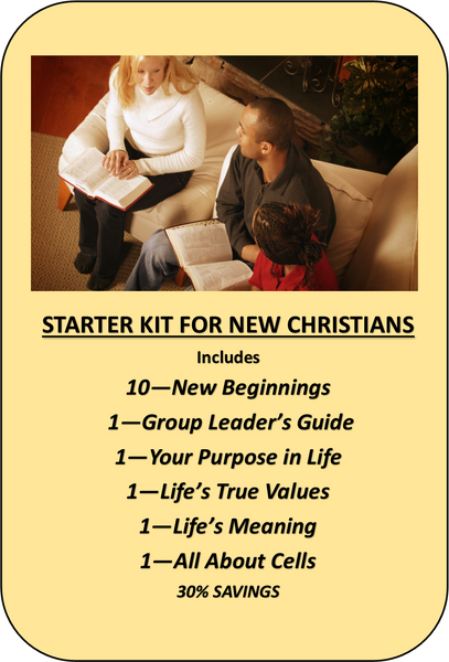 V1 - NEW CHRISTIAN STARTER 10 PACK KIT - 30% Savings