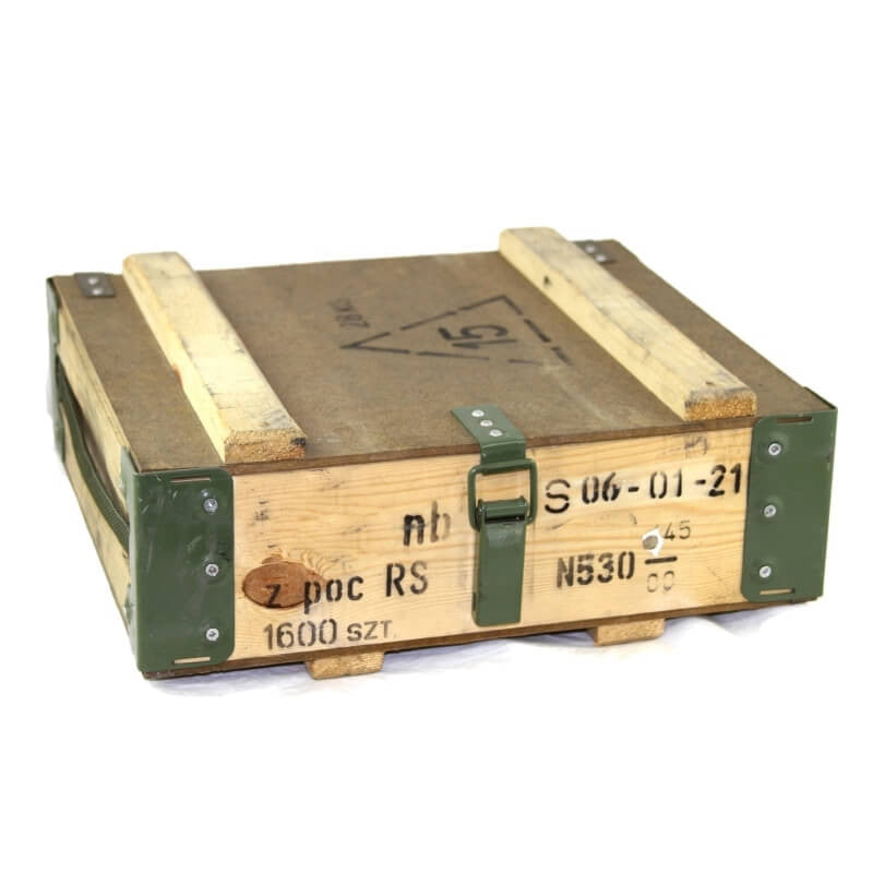 Polish Military Wooden Ammo Box f2ef41a1dc0