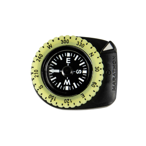 Marathon Clip On Compass | CO194005BK with glow-in-the-dark bezel