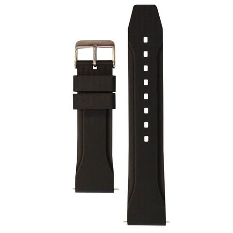 Marathon 22mm Textured Vulcanized Rubber Strap WW005015 Black