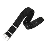 Marathon Nylon NATO Watch Strap With Square Stainless Steel Buckle - Black - 16mm, 18mm 20mm, 22mm