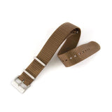 Marathon Nylon NATO Watch Strap With Square Stainless Steel Buckle - Desert Tan - 16mm, 18mm 20mm, 22mm